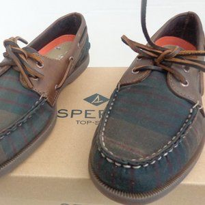 Sperry A/O Waxed Canvas Boat Shoes. New. Mens Sz's